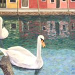 Swans in a Pandemic (#10)  2020  •  28 x 22