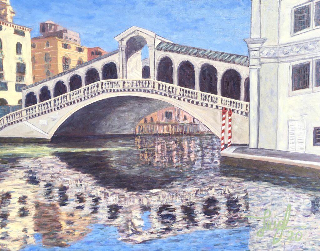 Rialto Bridge Lockdown (#13)  2020  •  28 x 22